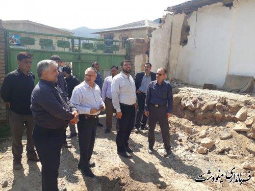 بازدید اندرزگو بازرس وزارت کشور از مناطق سیل زده و رانشی شهرستان مینودشت