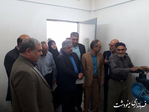 افتتاح دهها  پروژه عمرانی و اشتغالزایی در شهرستان مینودشت