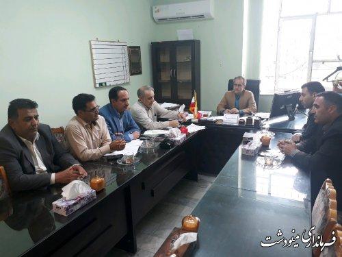 جلسه هیات رئیسه شورای شهر دوزین با حضور معاون فرماندار شهرستان مینودشت