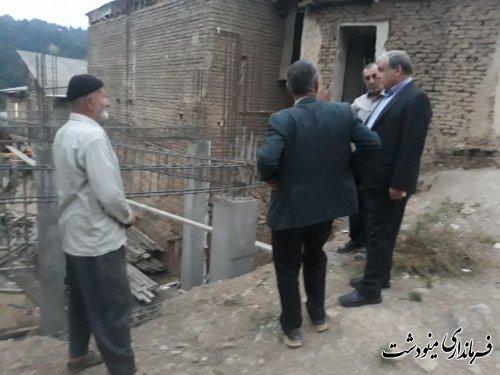 بازدید فرماندار مینودشت از روستای تاشته و پلنگر