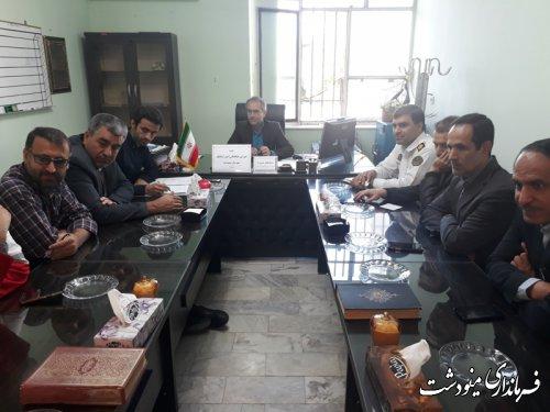 جلسه شورای هماهنگی امور ترافیکی شهرستان مینودشت برگزار شد