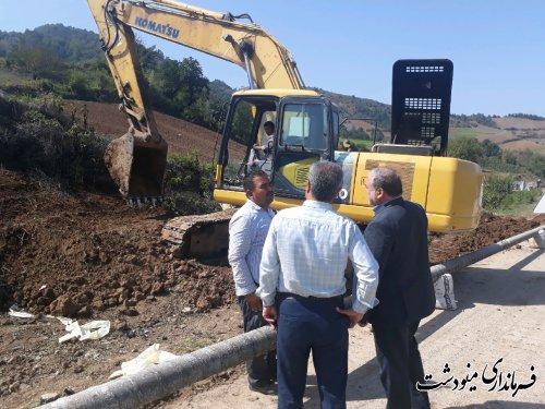 بازدید از عملیات خط لوله کشی دائمی گاز از صفی آباد به دوزین