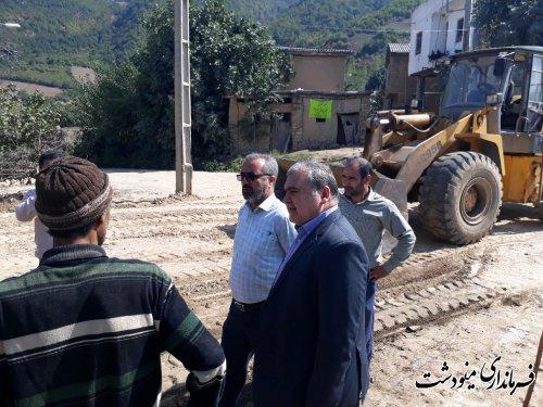 بازدید از ساخت و ساز ابنیه روستایی در روستاهای قلعه قافه و چمانی بالا