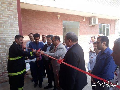 افتتاح ایستگاه آتش نشانی در شهرک صنعتی شهرستان مینودشت