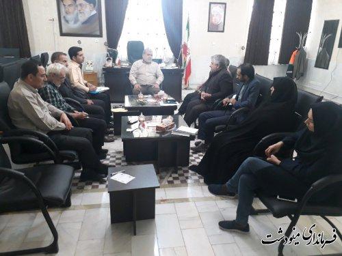 هشتمین جلسه هماهنگی برگزاری انتخابات یازدهمین دوره مجلس شورای اسلامی مینودشت برگزار شد