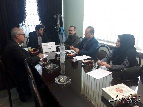 اولین جلسه هیات بازرسی انتخابات شهرستان مینودشت برگزار شد