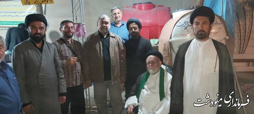بازدید فرماندار از موکب حضرت زینب(س) شهرستان مینودشت در کربلا