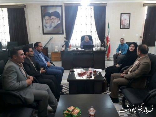 دیدارشهردار و اعضاء شورای اسلامی شهر دوزین با فرماندار
