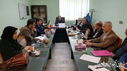 جلسه کارگروه بازسازی و نوسازی شهرستان مینودشت