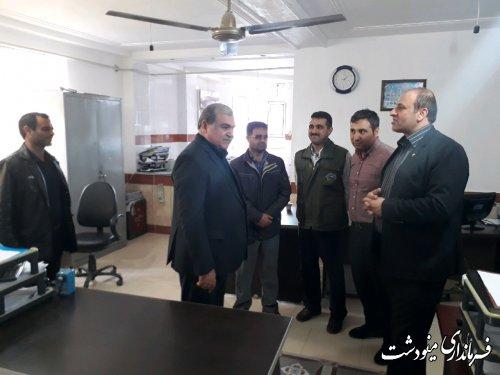 بازدید فرماندار از حوزه فرعی انتخابات و دفتر هیات نظارت بخش کوهسارات