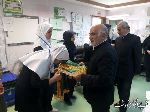 حضوز فرماندار مینودشت در بیمارستان فاطمه الزهرا (س) بمناسبت روز پرستار
