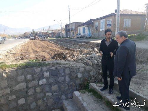 بازدید فرماندار از پروژه تعریض محور مینودشت به گالیکش