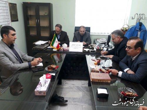 جلسه کمیته پشتیبانی انتخابات شهرستان مینودشت برگزار شد