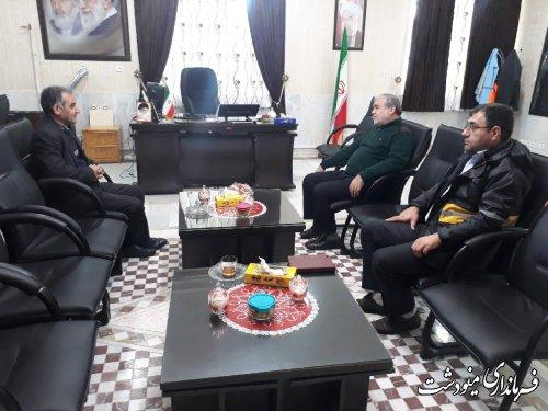 دیدار مدیر کل پست استان با فرماندار شهرستان مینودشت