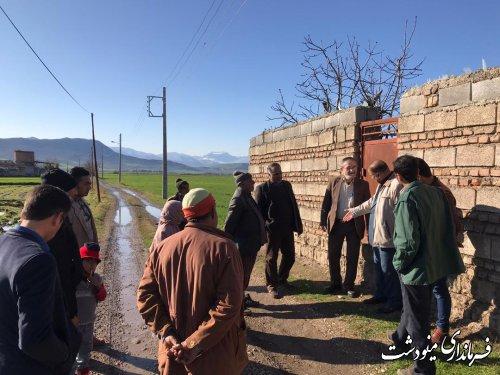 مشکلات روستاهای سنچولی آباد و قلمی مینودشت مورد بررسی قرار گرفت