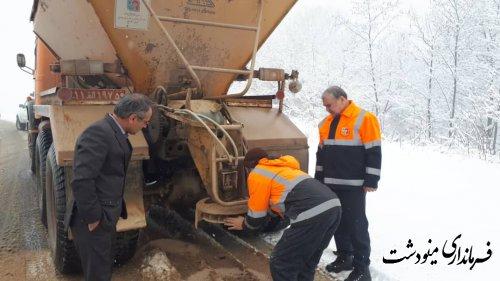 بازدید فرماندار مینودشت از مناطق برف گیر و کوهستانی شهرستان