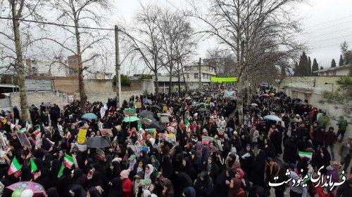 مردم قدر شناس و ولایی شهرستان مینودشت در جشن ۴۱ سالگی انقلاب سنگ تمام گذاشتند