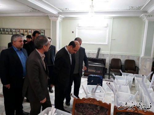 بازدید استاندار گلستان از حوزه انتخابیه شهرستان مینوشت