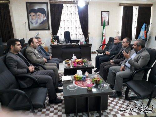 دیدار منتخب مردم در یازدهمین دوره مجلس شورای اسلامی با فرماندار شهرستان مینودشت