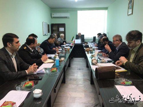 برگزاري جلسه ستاد هماهنگي خدمات سفر شهرستان مینودشت