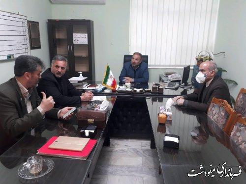 جلسه کارگروه مدیریت بحران شهرستان مینودشت