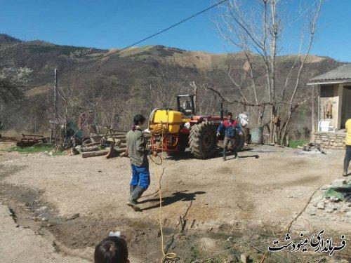 ضدعفونی و گندزدایی روستاهای بخش مرکزی مینودشت