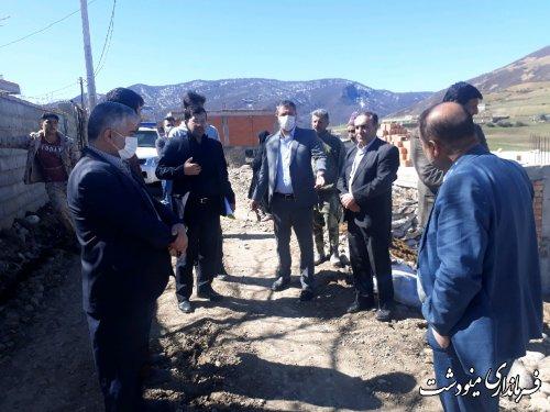 جلسه ستاد بازسازی و نوسازی شهرستان با حضور مدیرکل بنیاد مسکن و مدیرکل کمیته امداد