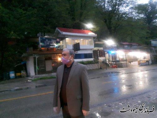 بازدید فرماندار مینودشت از سطح شهر و رودخانه ها و تفرجگاه تنگه چهل چای