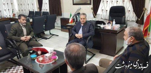 حضور معاون سیاسی امنیتی و اجتماعی استانداری گلستان در فرمانداری مینودشت