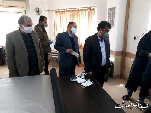 بازدید معاون امور  اقتصادی استاندار گلستان از داروخانه ها و مراکز تولید ماسک مینودشت