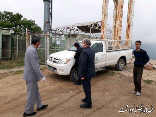 بازدید فرماندار مینودشت از تاسیسات برق و مخابرات در چراغ تپه