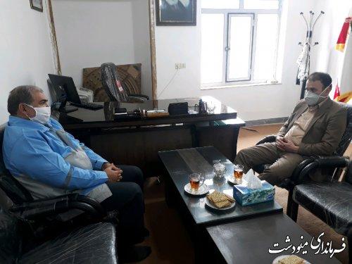بازدید فرماندار مینودشت از شهرداری دوزین