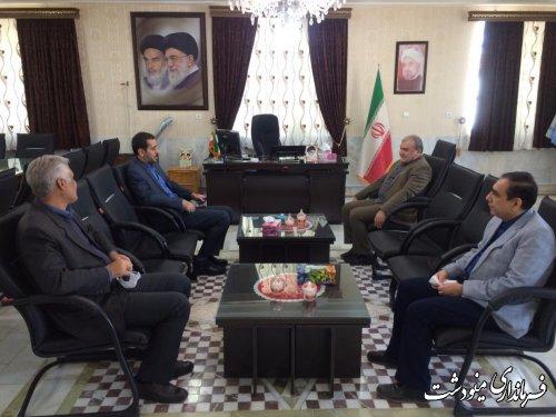 دیدار مدیر کل دخانیات استان گلستان با فرماندار مینودشت