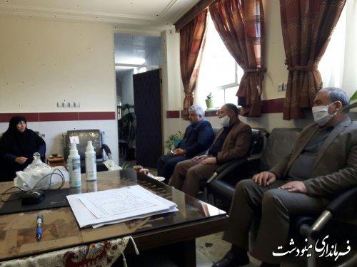 بازدید فرماندار مینودشت از دانشگاه آزاد اسلامی