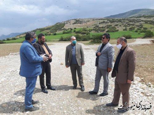 بازدید فرماندار از روند ساخت و ساز در روستای قلعه قافه