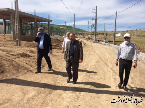 بازدید معاون عمرانی فرمانداری از سایت های قلعه قافه و روستای آهنگر محله