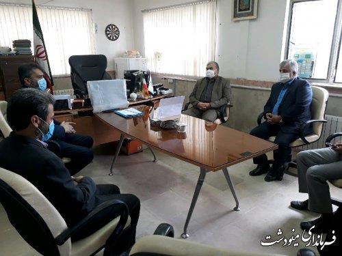 بازدید فرماندار از شبکه بهداشت و درمان شهرستان مینودشت