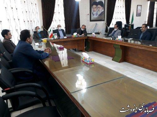 دیدرا شهردار و اعضای شورای اسلامی شهر مینودشت با فرماندار