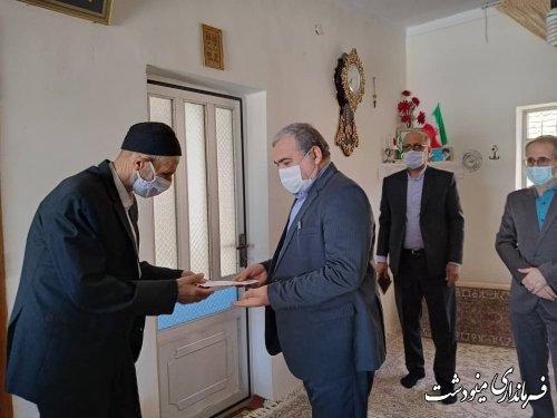 دیدار فرماندار با خانواده شهدا و جانبازان به مناسبت سالروز آزادسازی خرمشهر