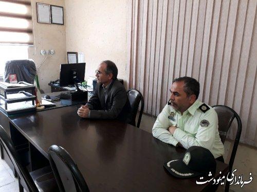 بازدید فرماندار از مراکز نیروی انتظامی شهرستان مینودشت
