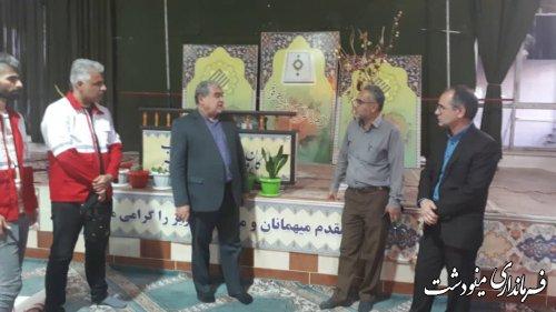 بازدید فرماندار از محل برگزاری انتخابات مجمع هلال احمر در مینودشت