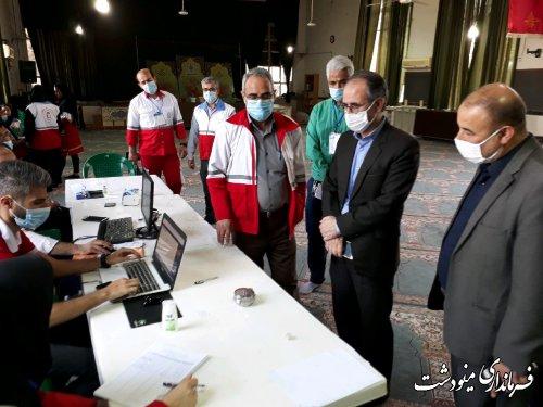 بازدید سرپرست فرمانداری مینودشت از روند برگزاری انتخابات هلال احمر