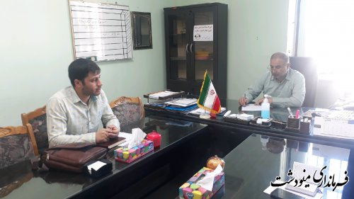 نشست معاون فرماندار با نماینده بنیاد برکت استان در جهت تخصیص اعتبار اشتغالزائی