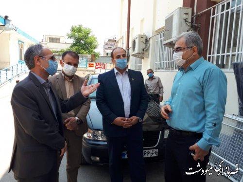 ملاقات فرماندار از مصدومین حادثه ریزش آوار در دوزین