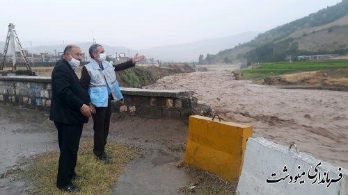 بارش 101 میلیمتر باران در کمتر از دو ساعت در مینودشت
