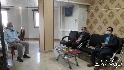 بازدید سرپرست فرمانداری از اداره تامین اجتماعی به مناسبت هفته تامین اجتماعی
