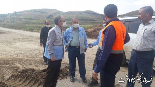بازدید میدانی مدیرکل بحران و راهداری استان گلستان از مناطق سیل زده مینودشت