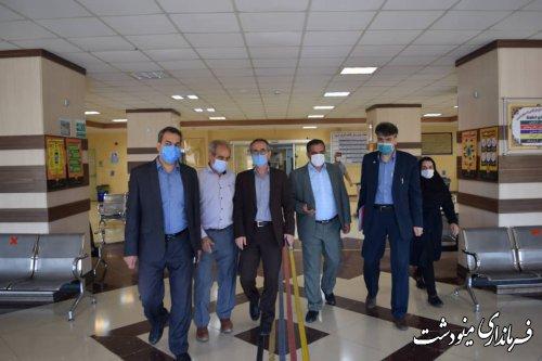 بازدید فرماندار از بیمارستان برکت فاطمه الزهرا(س) مینودشت