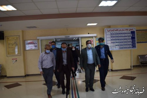 بازدید فرماندار و نماینده از بیمارستان برکت فاطمه الزهرا(س) مینودشت