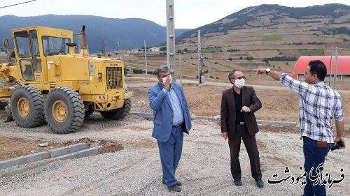 بازدید سرپرست فرمانداری مینودشت از سایت های قلعه قافه